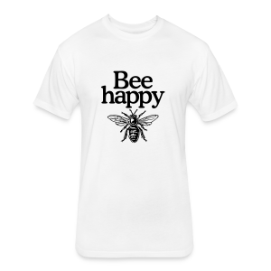 Bee happy organic t-shirt - Fitted Cotton/Poly T-Shirt by Next Level