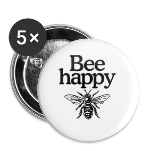 Bee happy organic t-shirt - Small Buttons