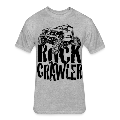Rock Crawling Jeep - Fitted Cotton/Poly T-Shirt by Next Level