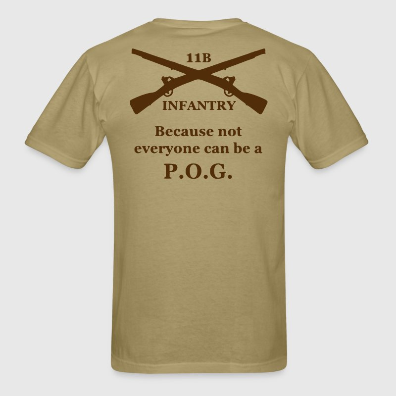 Men's Brown 11B Infantry POG Shirt - Men's T-Shirt
