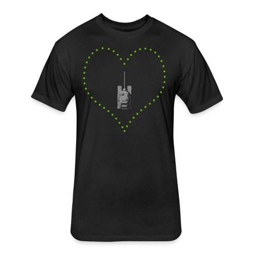 From Arty With Love (Women) - Fitted Cotton/Poly T-Shirt by Next Level