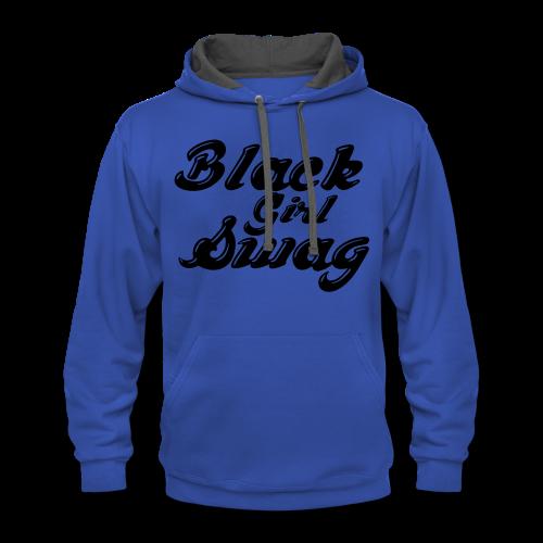 Black Girl Swag T-Shirt - Contrast Hoodie