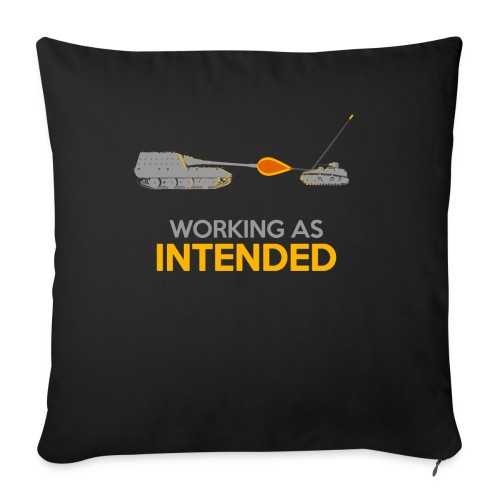 """Working as Intended - Throw Pillow Cover 18"""" x 18"""""""
