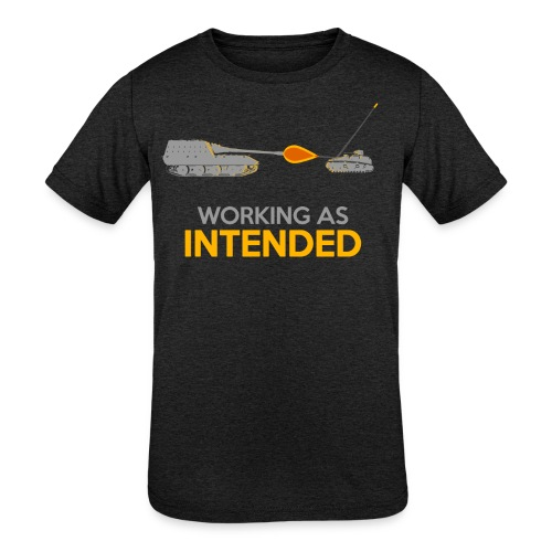 Working as Intended - Kids' Tri-Blend T-Shirt