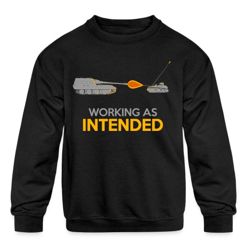 Working as Intended - Kids' Crewneck Sweatshirt