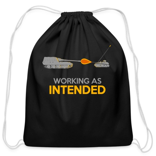 Working as Intended - Cotton Drawstring Bag