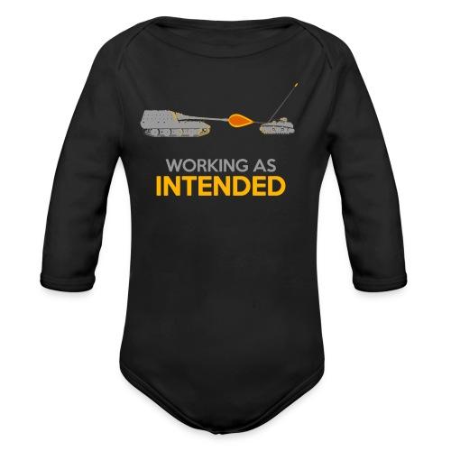 Working as Intended - Organic Long Sleeve Baby Bodysuit