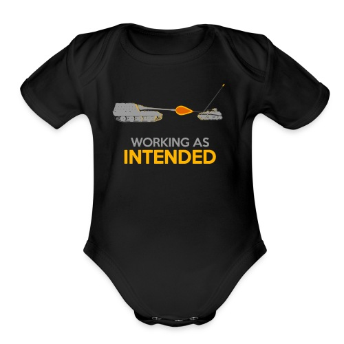 Working as Intended - Organic Short Sleeve Baby Bodysuit
