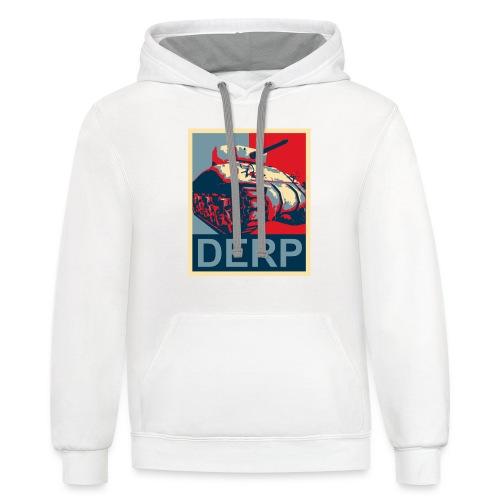 Derp (Women) - Contrast Hoodie
