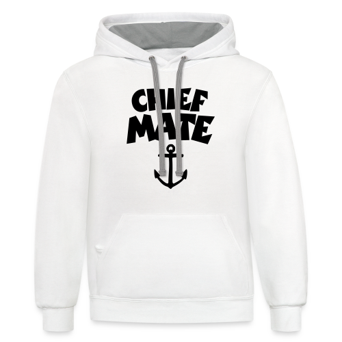 Chief Mate T-Shirt Anchor (White/Front) - Contrast Hoodie