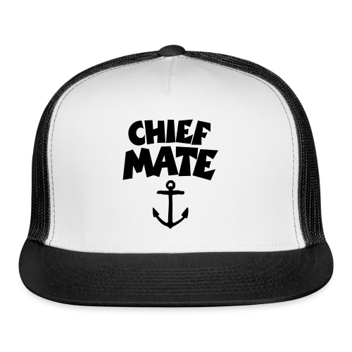 Chief Mate T-Shirt Anchor (White/Front) - Trucker Cap