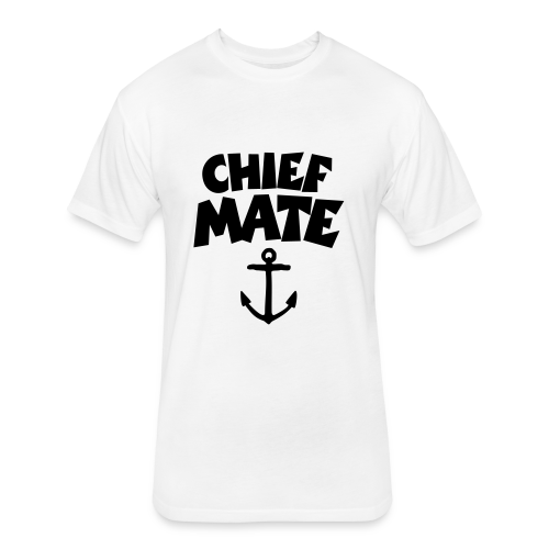 Chief Mate T-Shirt Anchor (White/Front) - Fitted Cotton/Poly T-Shirt by Next Level