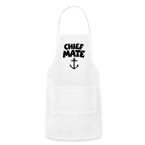 Chief Mate T-Shirt Anchor (White/Front) - Adjustable Apron
