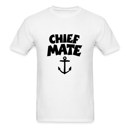 Chief Mate T-Shirt Anchor (White/Front) - Men's T-Shirt