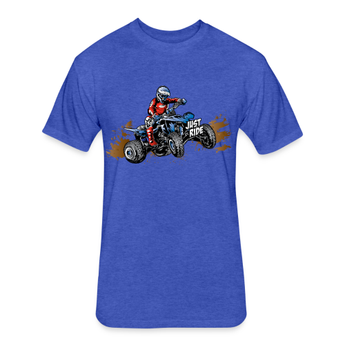 ATV Quad Just Ride USA - Fitted Cotton/Poly T-Shirt by Next Level