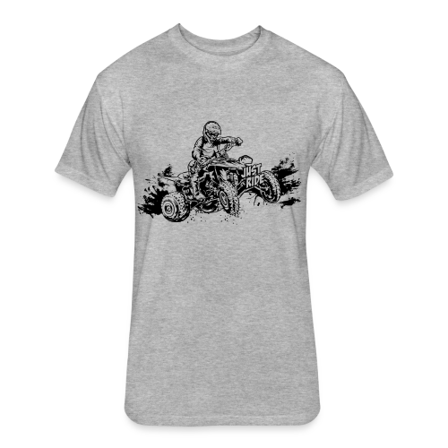 ATV Quad Just Ride - Fitted Cotton/Poly T-Shirt by Next Level
