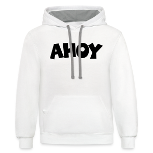 Ahoy T-Shirt (White/Black) Men - Contrast Hoodie