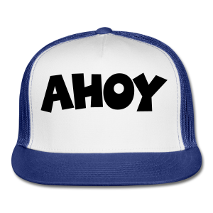 Ahoy T-Shirt (White/Black) Men - Trucker Cap
