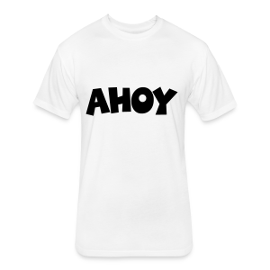 Ahoy T-Shirt (White/Black) Men - Fitted Cotton/Poly T-Shirt by Next Level
