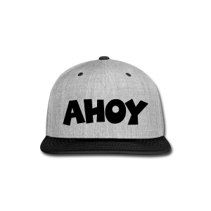 Ahoy T-Shirt (White/Black) Men - Snap-back Baseball Cap