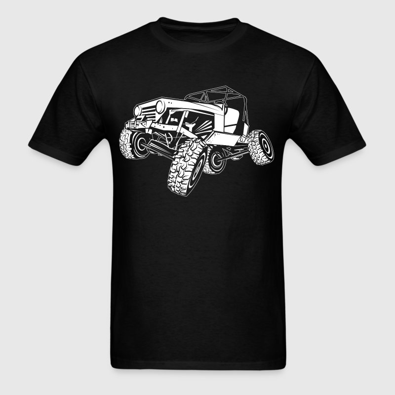 Off-Road White Monster Jeep T-Shirts - Men's T-Shirt