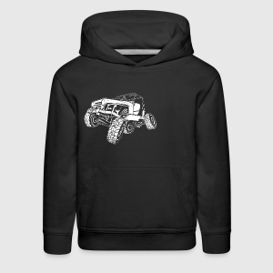 Off-Road White Monster Jeep Kids' Shirts - Kids' Premium Hoodie
