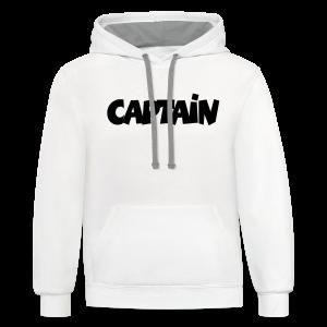 Captain T-Shirt (White) Men - Contrast Hoodie