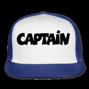 Captain T-Shirt (White) Men - Trucker Cap