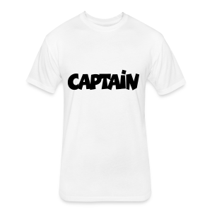 Captain T-Shirt (White) Men - Fitted Cotton/Poly T-Shirt by Next Level