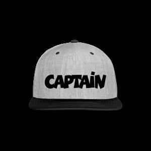 Captain T-Shirt (White) Men - Snap-back Baseball Cap