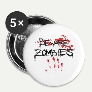 Beware Zombies - Small Buttons