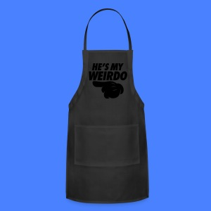 He's My Weirdo (Pointing Left) Tanks - Adjustable Apron