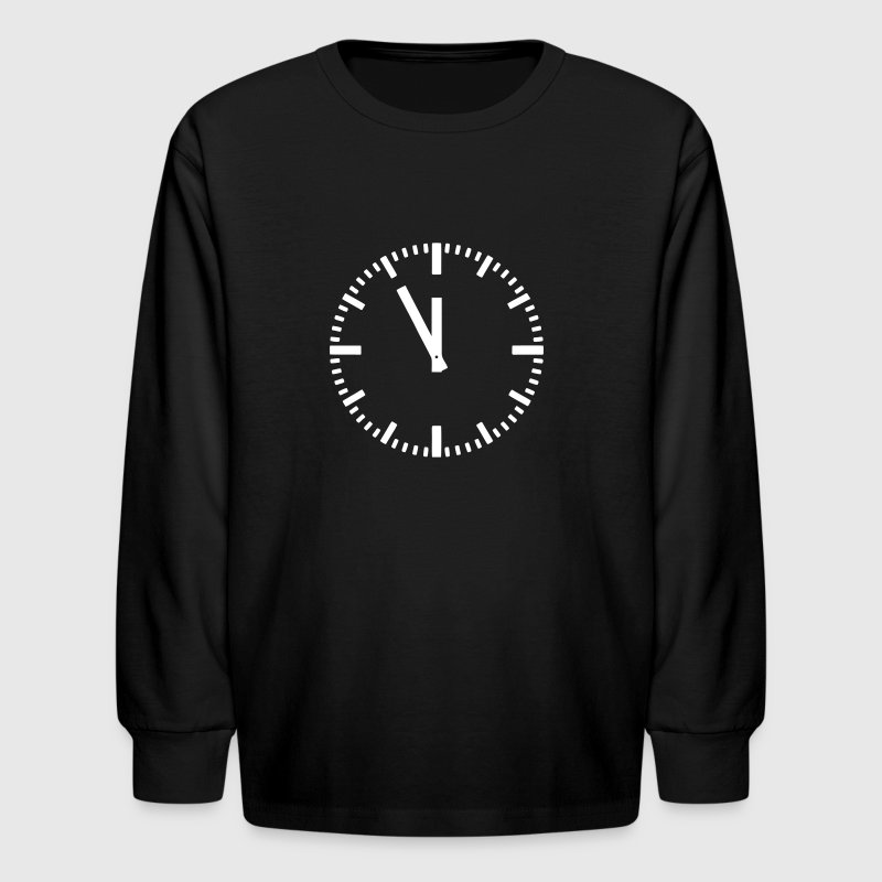 11:55 clock - 5 before 12 Kids' Shirts - Kids' Long Sleeve T-Shirt