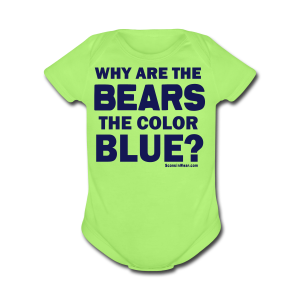 Why the Bears are Blue - Short Sleeve Baby Bodysuit