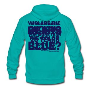 Why the Bears are Blue - Unisex Fleece Zip Hoodie by American Apparel