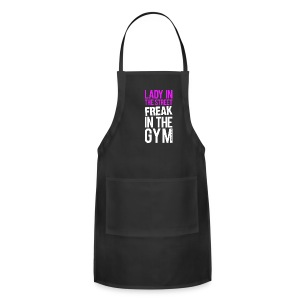 Lady in the street freak in the gym | womens hoodie (back print) - Adjustable Apron