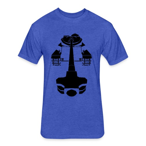 AMX 50 100 Blue - Fitted Cotton/Poly T-Shirt by Next Level