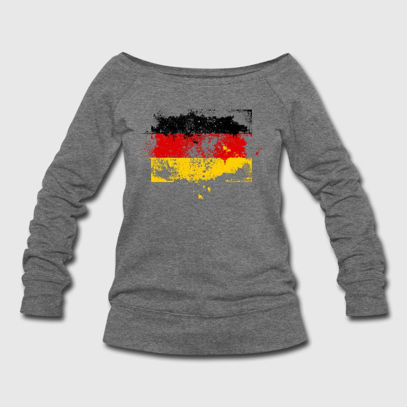 Germany German Deutschland Deutsch swag style flag Long Sleeve Shirts - Women's Wideneck Sweatshirt