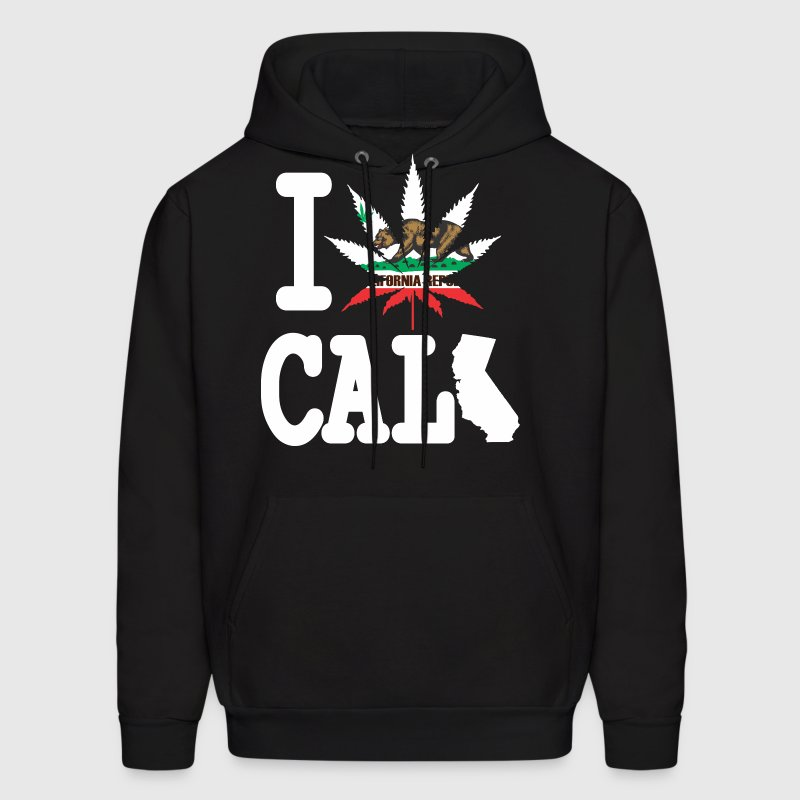 I Weed California Map Hoodies - Men's Hoodie