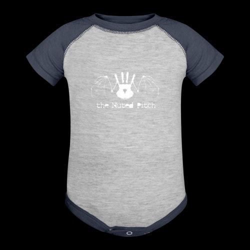 tMP White Bat - Baseball Baby Bodysuit
