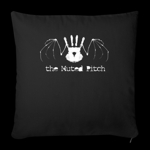 "tMP White Bat - Throw Pillow Cover 18"" x 18"""