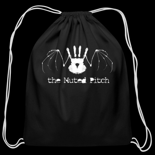 tMP White Bat - Cotton Drawstring Bag