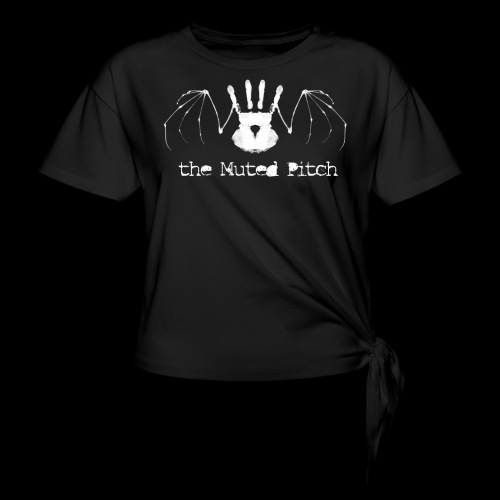 tMP White Bat - Women's Knotted T-Shirt