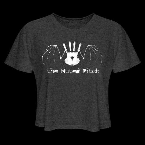 tMP White Bat - Women's Cropped T-Shirt