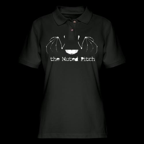 tMP White Bat - Women's Pique Polo Shirt