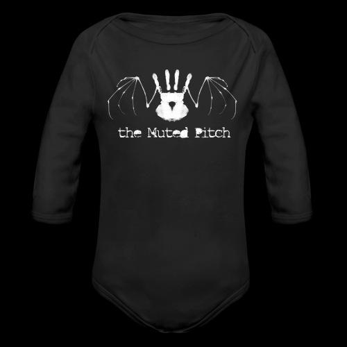 tMP White Bat - Organic Long Sleeve Baby Bodysuit