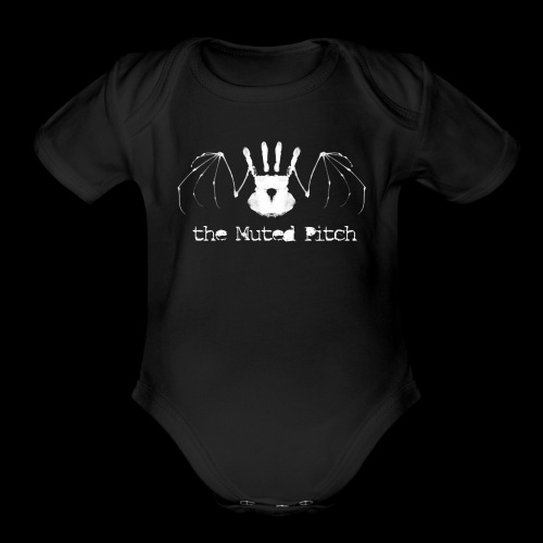 tMP White Bat - Organic Short Sleeve Baby Bodysuit