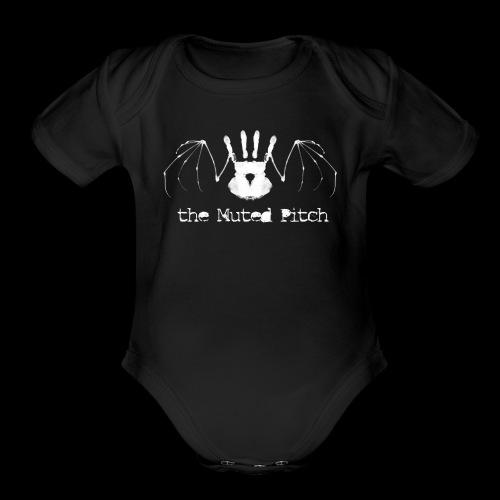 tMP White Bat - Organic Short Sleeve Baby Bodysuit