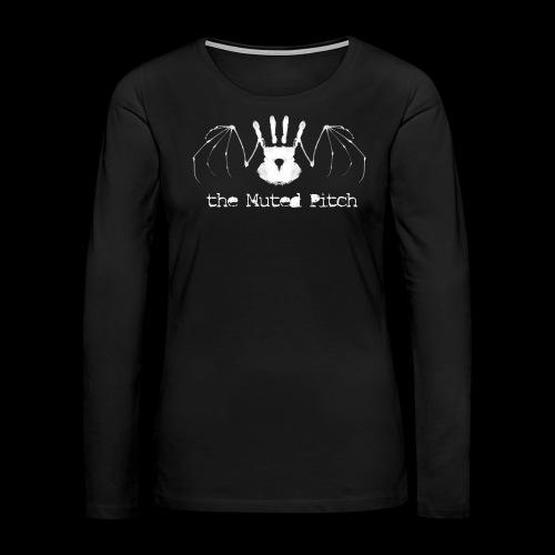 tMP White Bat - Women's Premium Long Sleeve T-Shirt