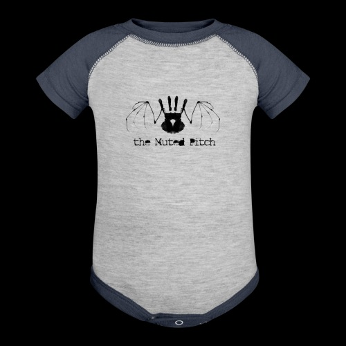 tMP Black Bat - Baseball Baby Bodysuit
